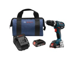 18 V EC Brushless Compact Tough 1/2 in. Hammer Drill Driver Kit, SlimPack batteries