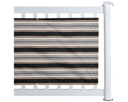 Balcony Privacy Screen Black and Beige 30 in. x 16 ft.