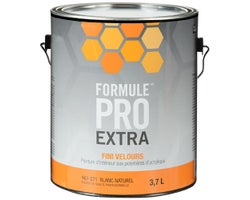 Formule Pro Extra Eggshell Latex PaintNatural White & Colours 3.7 L