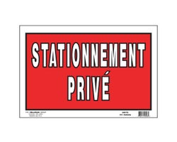 Private Parking Sign 8 in. x 12 in.