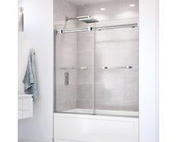 Duel Bathtub Door 59 in. (Clear glass)