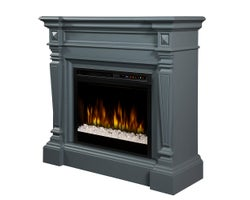 Heather Electric Fireplace , 1500 W Crystals, Wedgewood Grey