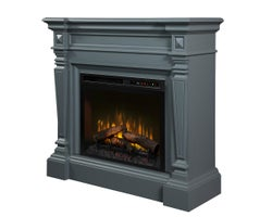Heather Electric Fireplace , 1500 W Logs, Wedgewood Grey