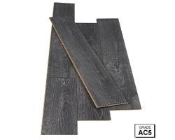 Plancher stratifié 12 mm Chêne Carbone