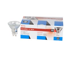 MR16 (GU10) Halogen Reflector Light Bulbs 50 W (6-Pack)