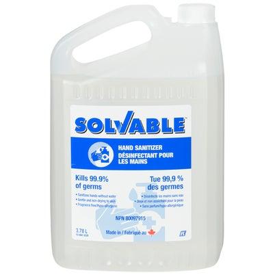 Gel désinfectant pour les mains Solvable 3,78L