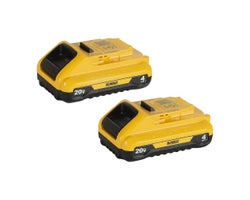 Batteries 20 V Max lithium-ion Dewalt (4,0 Ah) (Paquet de 2)