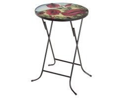 Poppies Glass Side Table