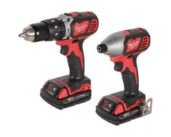 18 V Lithium-Ion Hammer Drill & Impact Driver Combo Set