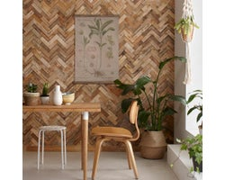 Lambris de bois Reclaimed, Chevrons