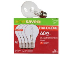 A19 Halogen Light Bulbs 43 W (4-Pack)