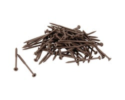 Brown Treated Wood Screws 3 in. #8 F.H. (100-Pack)