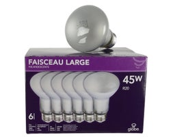 R20 Incandescent Reflector Light Bulbs 45 W (6-Pack)