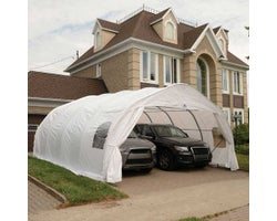 Double Car Shelter 18 ft. x 20 ft.