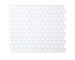 Mosaïque autoadhésive Hexago 11 1/4 po x 9 5/8 po (Paquet de 4)