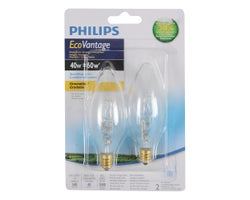 Halogen Candle Bulbs, 43 W (2-Pack)