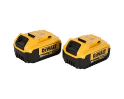 Batteries 20 V Max XR lithium-ion Dewalt (4,0 Ah) (Paquet de 2)