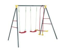 Youth metal swing set