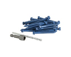 1/4 in. x 2 3/4 in. H.H. Concrete Screws (100-Pack)