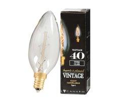 Ampoule incandescente , Vintage C11, 40 W