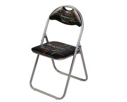 Chaise pliante coussinée Bonjour