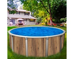 Above-Ground Pool Insulation Beige Oak 18 ft.