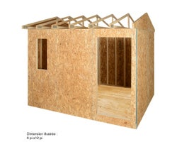 Prefabricated Garden Shed , 8 ft. x 8 ft.