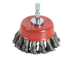 Knotted Wire Rotative Cup Brush 2-1/2 in.