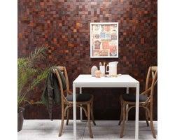 Mosaic Wooden Panelling, Ash Brown