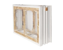 Foundation Window Frame 56 in. x 32 in. x 8 in. (2-Section)
