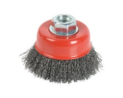 Grinder Crimped Fined Wire Cup Brush 4 in.
