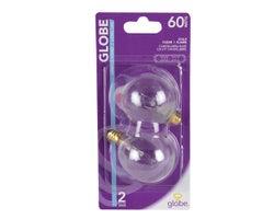G16 Incandescent Light Bulbs 60 W (2-Pack)