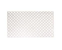 White PVC Privacy Lattice4 ft.x 8 ft. (1 in. squares)