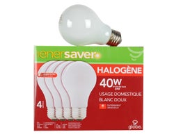 A19 Halogen Light Bulbs 29 W (4-Pack)