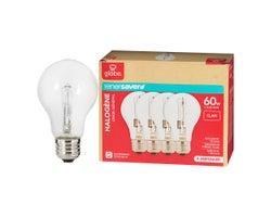 A19 Halogen Light Bulbs 43 W (4-Pack)