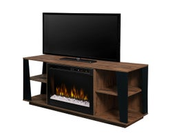 Arlo Media Console with Electric Fireplace, 1500 W Crystals, , Tan Walnut