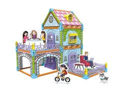 3D Puzzle to Colourable Country House (130 Pieces)