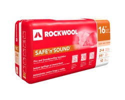 Rockwool Safe'n'Sound Acoustic Insulation 3 in. x 16 in. x 59.7 ft²