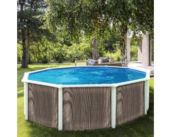 Above-Ground Pool Insulation Grey Hardwood 18 ft.