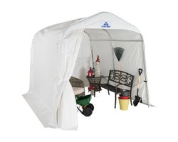 White Utility Shelter 8 ft. x 10 ft.