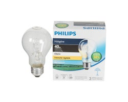 A19 Halogen Light Bulbs, 29 W