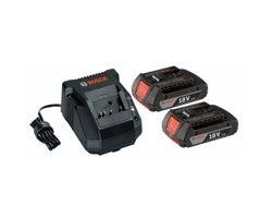 Ensemble de départ 3 pièces batteries SlimPack , Lithium-Ion 18 V et chargeur