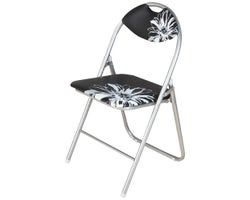 Flower Cushioned Folding Chair