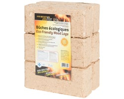 Mirabûches Eco-Friendly Wood Logs 3.75 lb (6-Pack)