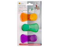 Multi-Purpose Magnetic Clips (3-Pack)