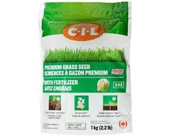 Premium Grass Seed with Fertilizer 2-5-2, 1 kg