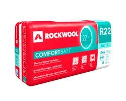 Laine isolante R-22 Rockwool ComfortBatt 5,5 po x 16 po x 39,8 pi²