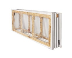 Foundation Window Frame 56 in. x 24 in. x 10 in. (3-Section)