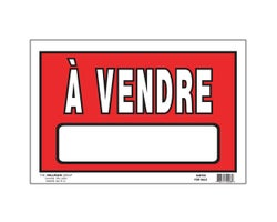 For Sale Sign 8 in. x 12 in.