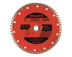 7 in. Diamond Saw Blade, (Turbo Rim)